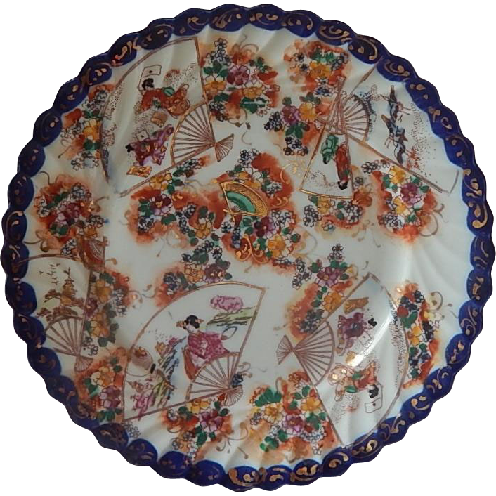 Geisha Girl Porcelain Plate Japan