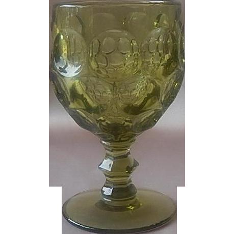 Imperial Glass Provincial Verde Green Goblet