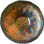 Fenton Grape and Cable Carnival Glass Bowl