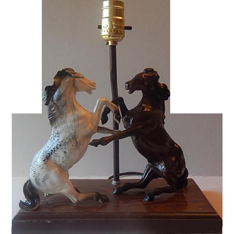 Gilbert Product Plastic Stallions Horse Lamp