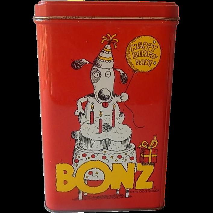 Bonz 1986 Metal Tin by Ralston Purina Company