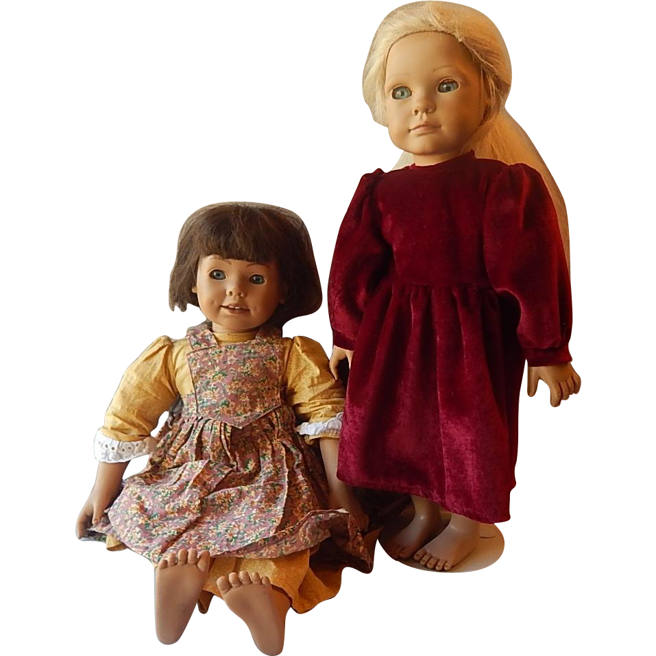 Two Heidi Ott Faithful Friends Dolls Beth and Hannah