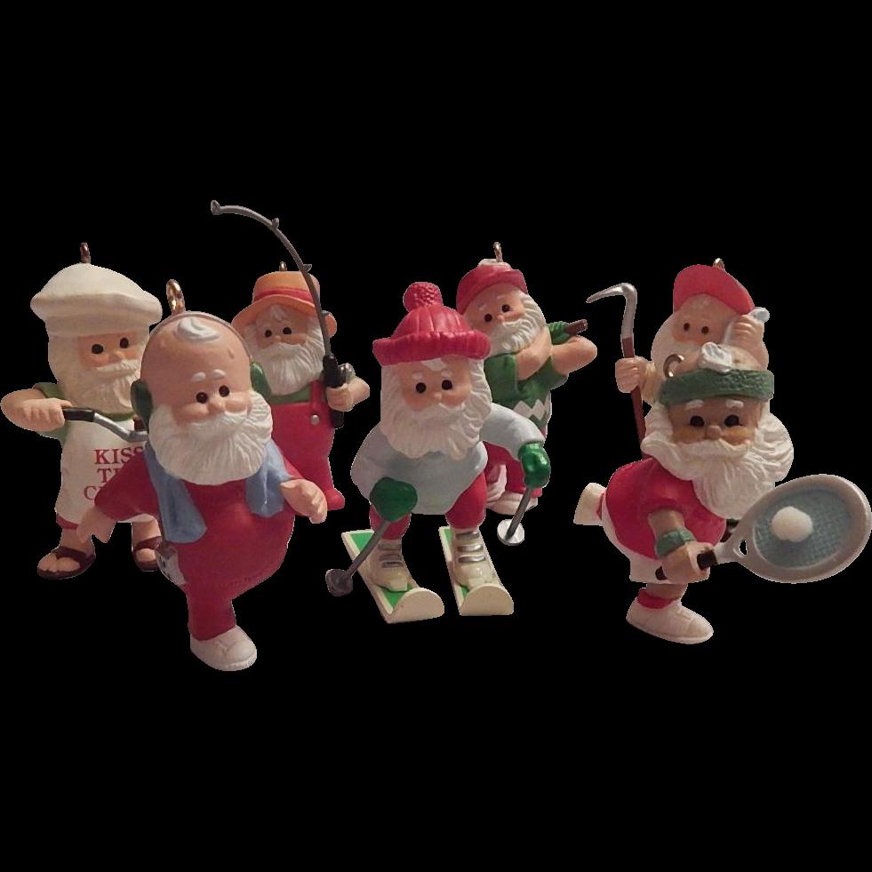 Seven Hallmark Keepsake  Ornaments  What Santa Does For Fun