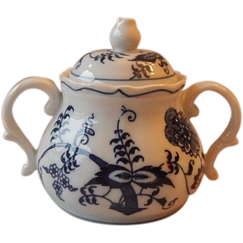 Blue Danube Sugar Bowl With Lid
