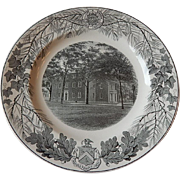 Wedgwood Bowdoin College Gray Dinner Plate
