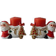 Napco Ware Santa Candle Holders