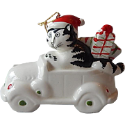 B. Kliban Cat Christmas Ornament