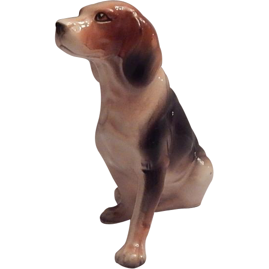 Ceramic Beagle Dog Figurine