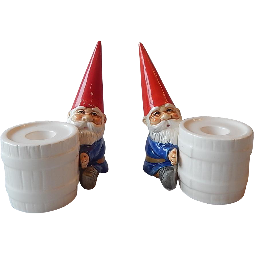 Unieboek Gnomes Candlestick Holders