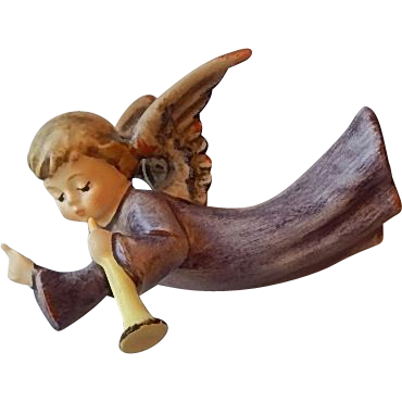 Goebel Nativity Flying Angel Figurine #336/0
