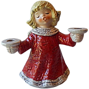 Goebel Christmas Angel Candlestick Holder
