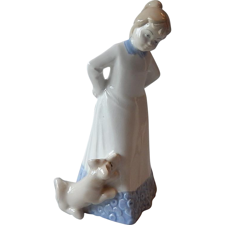 D'Art SA Spain Girl With Puppy Figurine