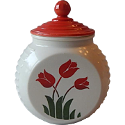 Vitrock Tulip Grease Jar Container with Lid