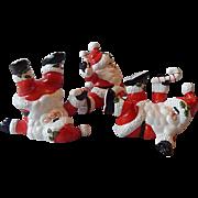 Fitz and Floyd OCI Christmas Santa Tumblers