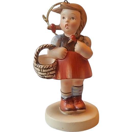 Schmid Little Girl Figurine Christmas Ornament