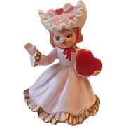 Lefton Valentine Little Girl Figurine