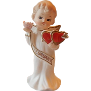 Valentine February Angel Figurine