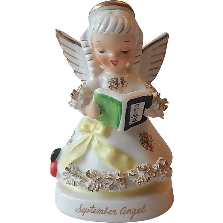 Napco September Birthday Angel Figurine