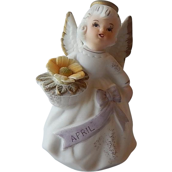 Lefton April Birthday Angel Figurine