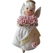 Lefton May Birthday Angel Figurine