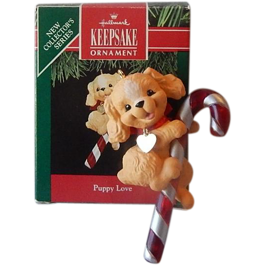Hallmark Keepsake Puppy Love Ornament 1991