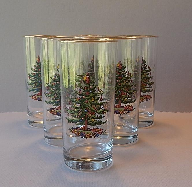 Spode Christmas Tree Highball Glasses From Colemanscollectibles On
