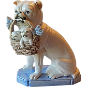 One Fitz and Floyd Ceramic Dog Figurine Bookend