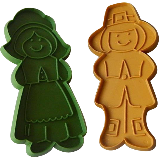 Two Pilgrim Hallmark Cookie Cutters