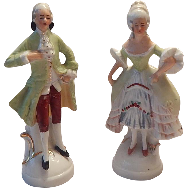 Colonial Lady and Gentleman Figurines
