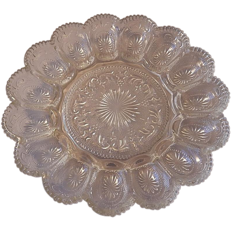 Brockway Glass American Concord Deviled Egg Plate