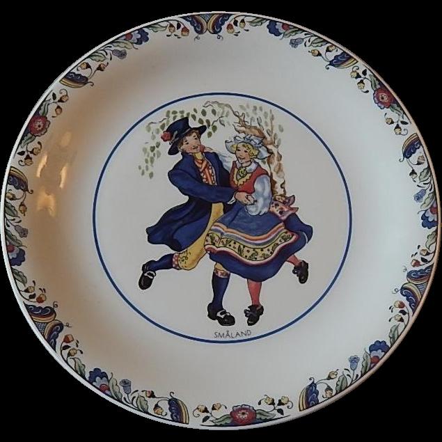 Rorstrand  Swedish National Costumes Smaland Plate