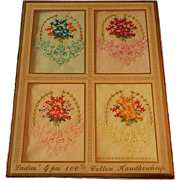 Four Ladies Cottom Handkerchiefs