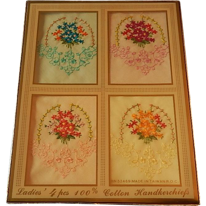 Four Ladies Cottom Handkerchiefs