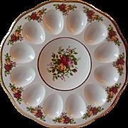 Royal Albert Old Country Roses Deviled Egg Plate