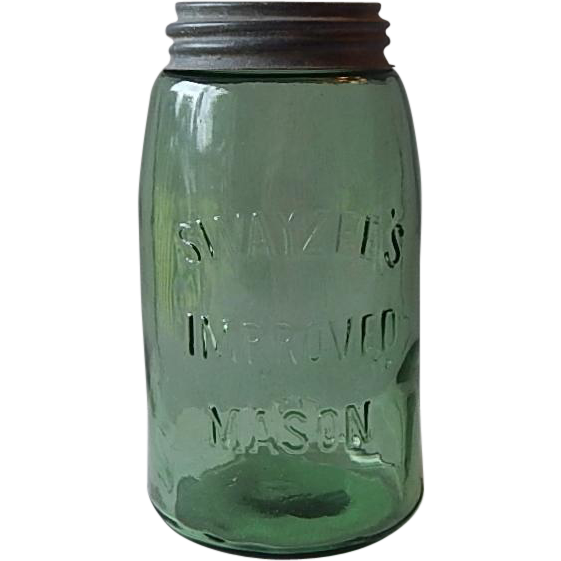 Swayzee Green Fruit Quart Jar