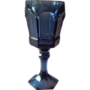 Forstoria Dark Blue Virginia Water Glass