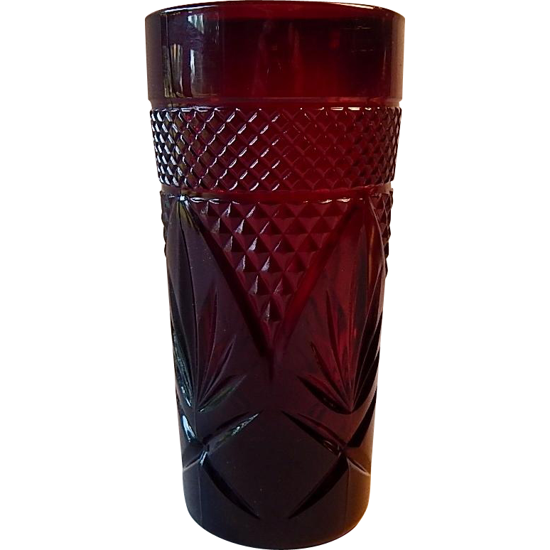 Cristal D'Arques Ruby Red Glass Tumbler