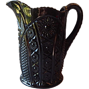 Indiana Glass Tiara Monarch Black Beverage Pitcher