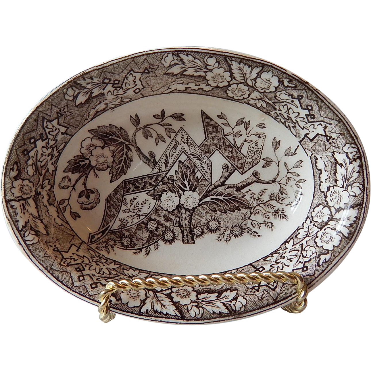 Beatice Brown Transferware Dish by Wedgwood