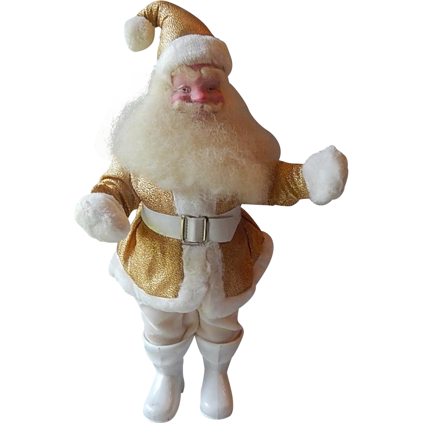 Harold Gale Gold Suit Santa Claus Doll