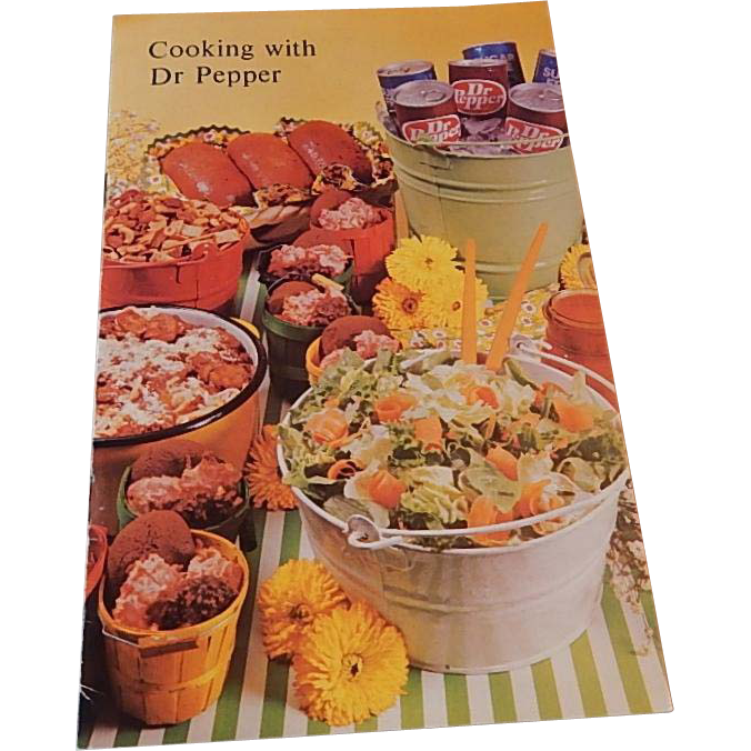 Cooking With Dr Pepper Pamphlet 1977
