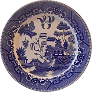 Japanese Blue Willow Dinner Plate
