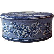 Daher England Blue Willow Metal Container