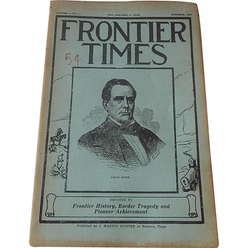 Frontier Times Magazine  October 1929