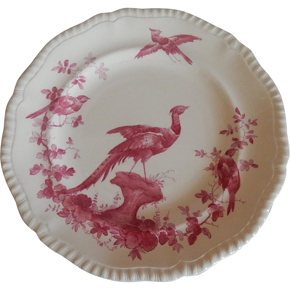 Black Bird Dinner Plate by Copeland Spode