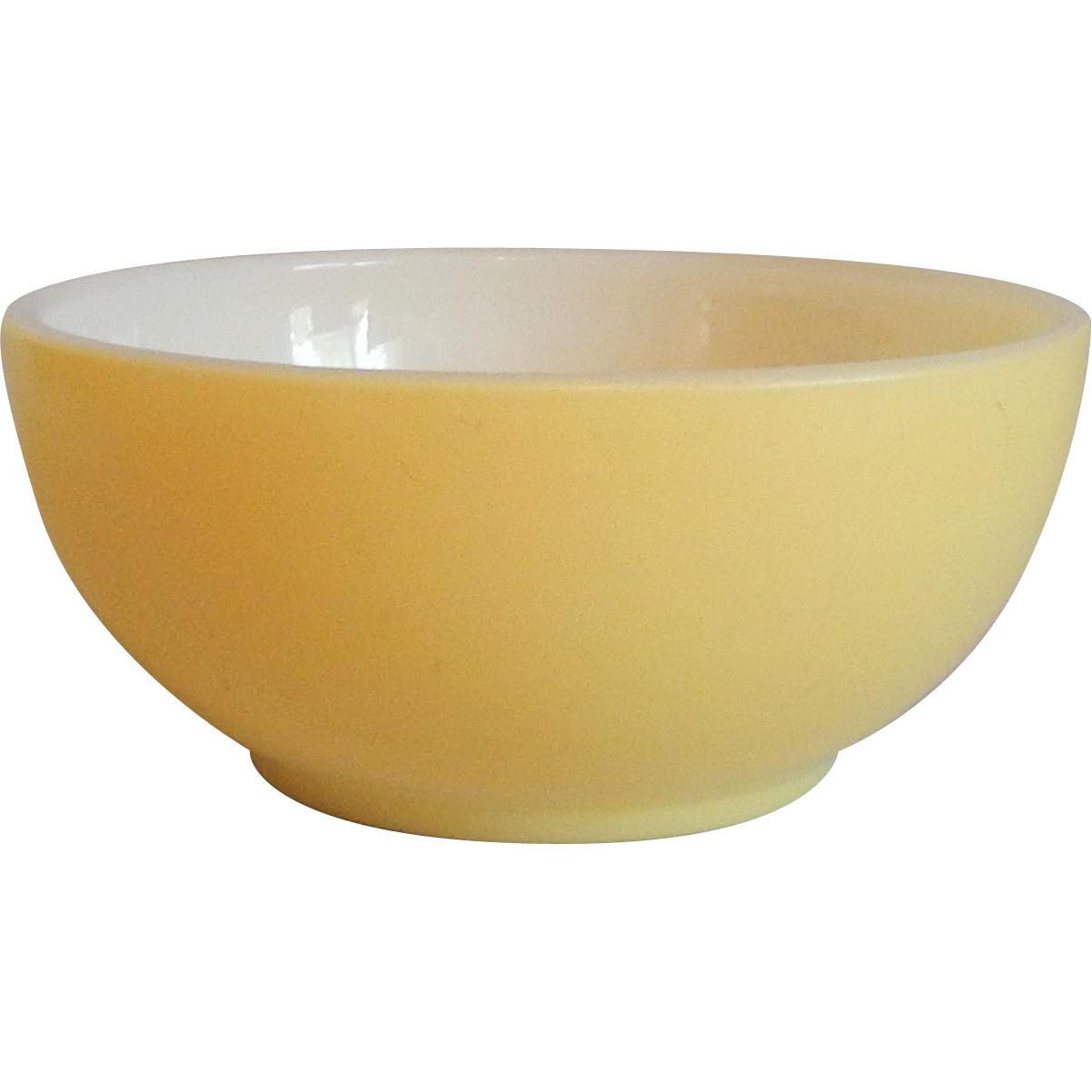 Fire King Yellow Cereal Bowl From Colemanscollectibles On