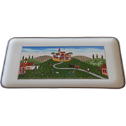 Villeroy & Boch Country Village Scene Sandwich Tray