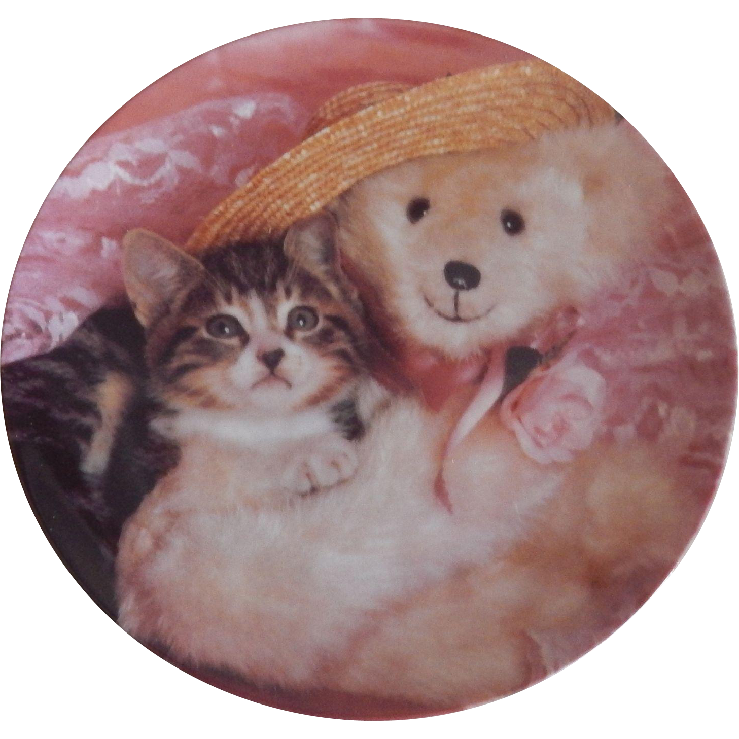 Crestley Collection Everyone Needs A Teddy Kitten Plate