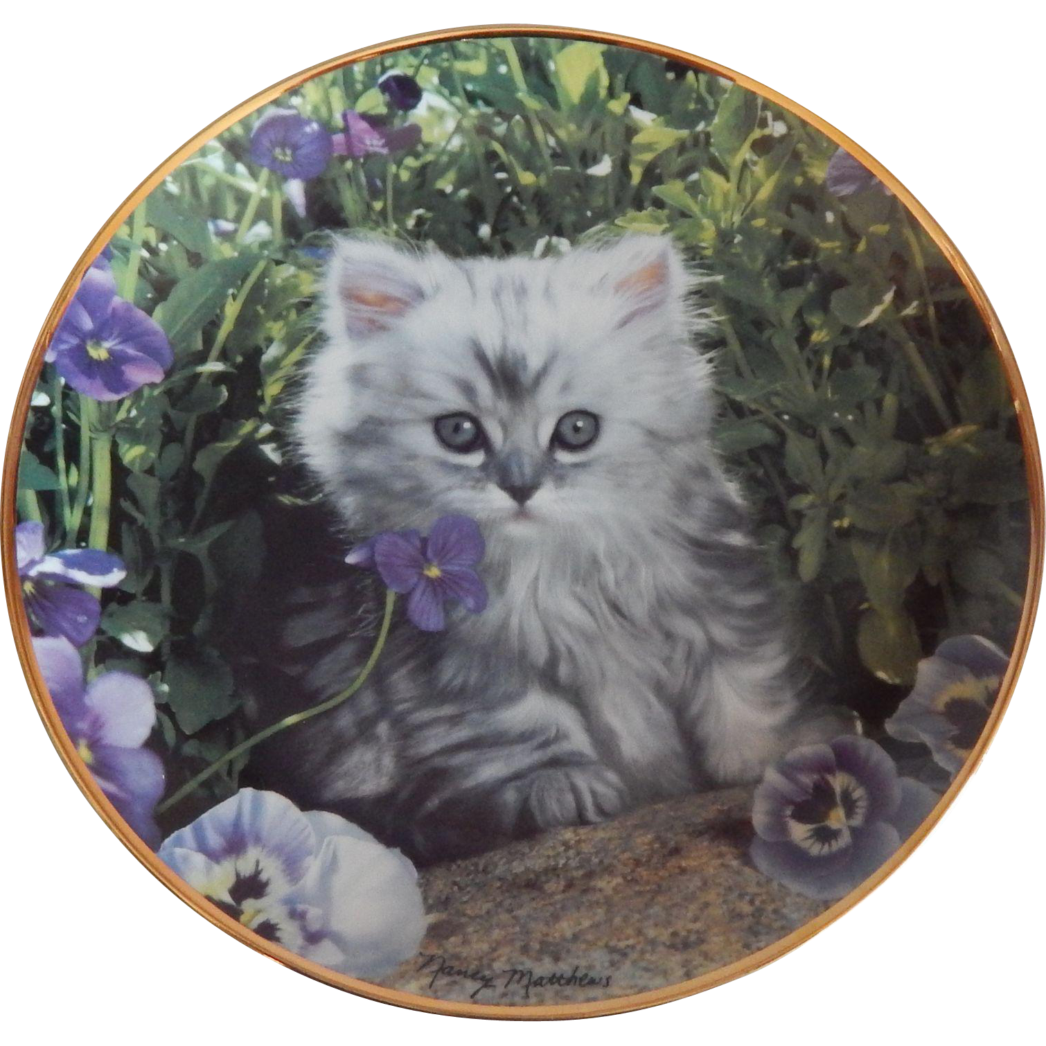 Franklin Mint Purrfect Pose Kitty Cat Plate