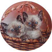 Bradford Exchange Sammy & Sarah Kitty Cat Plate